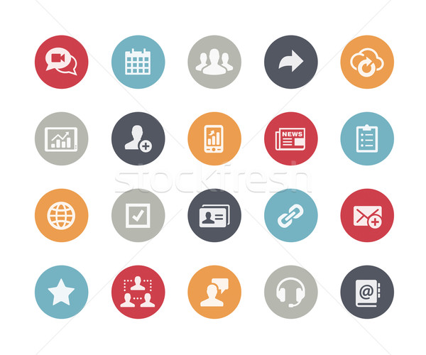 Business Network Icons // Classics Series Stock photo © Palsur