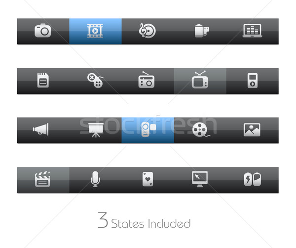 Multimédia vektor akta gombok különböző rétegek Stock fotó © Palsur