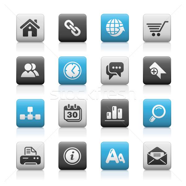 Foto stock: ícones · do · internet · profissional · ícones · site
