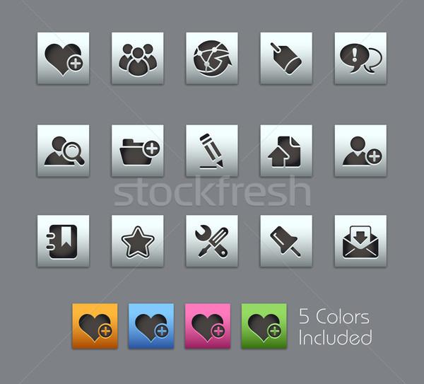 Stock fotó: Internet · blog · eps · akta · szín · különböző