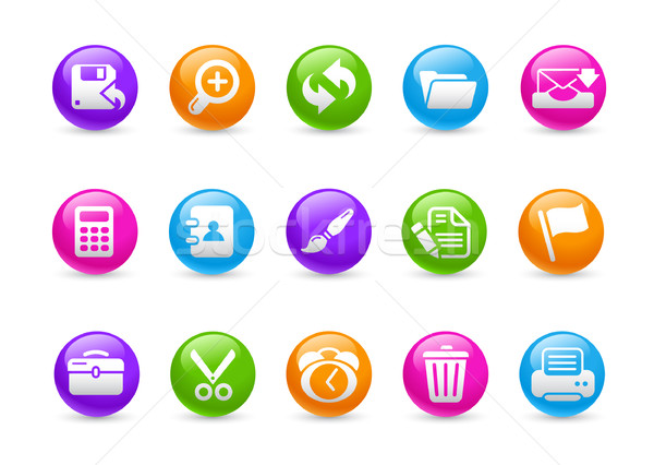 Сток-фото: веб · интерфейс · радуга · профессиональных · иконки · сайт