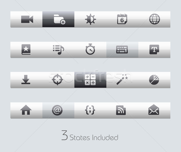 Web and Mobile 4 -- Toolbars Stock photo © Palsur