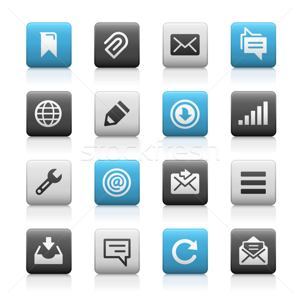 Web and Mobile Icons 9 // Matte Series Stock photo © Palsur