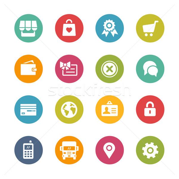 Iconen vers kleuren knoppen verschillend Stockfoto © Palsur