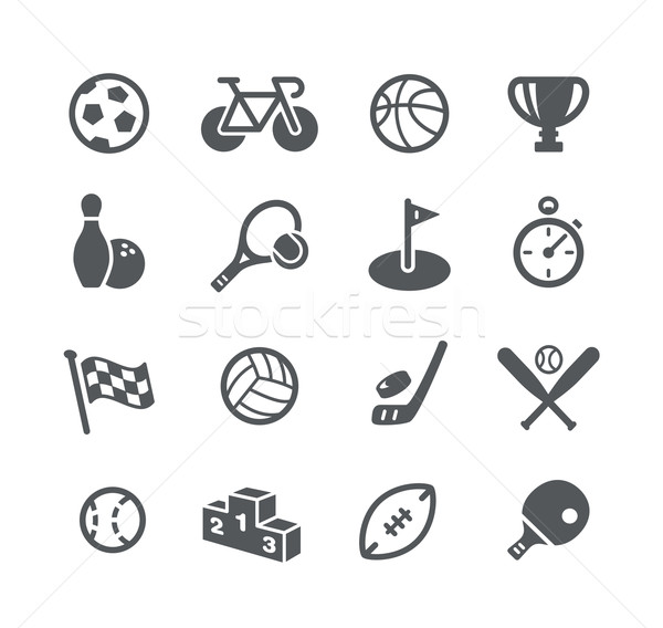 Sport icone utilità vettore digitale stampa Foto d'archivio © Palsur