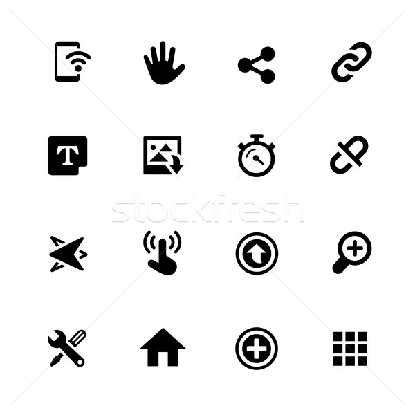 System Icons // Black Series Stock photo © Palsur