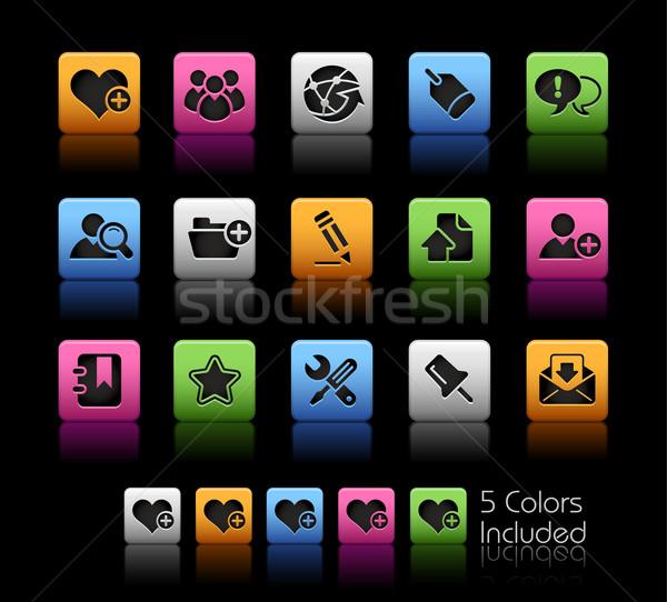 Foto stock: Internet · blog · cor · caixa · eps · arquivo