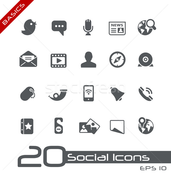 Social Media Icons // Basics Stock photo © Palsur