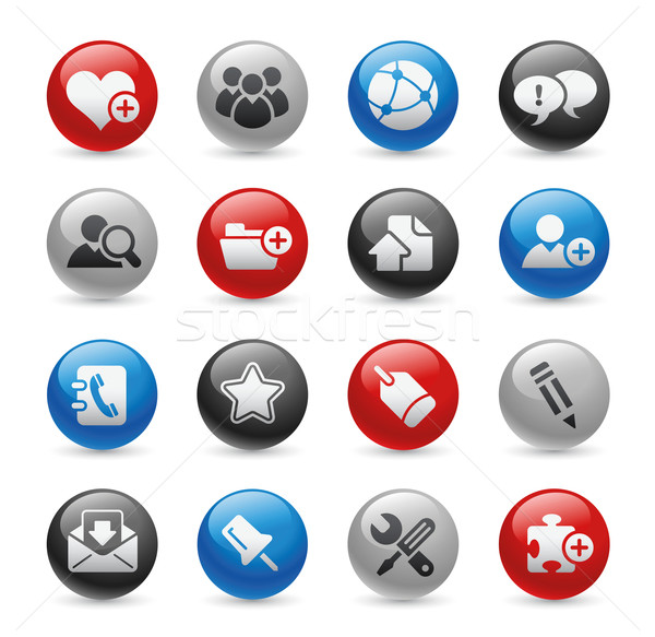 Web Blog & Internet Icons // Gel Pro Series Stock photo © Palsur