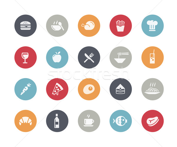 Food Icon Set 1 of 2 // Classics Series Stock photo © Palsur