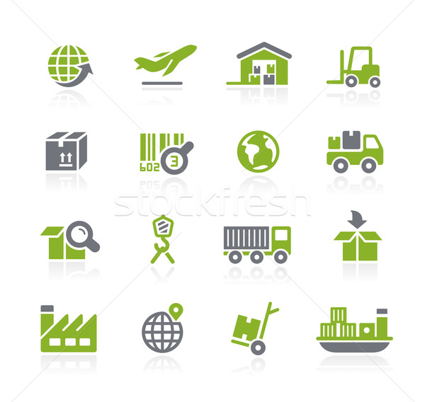 Industry and Logistics Icons // Natura Series Stock photo © Palsur
