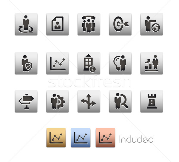 Company Strategy Icons - Metalbox Series Stock photo © Palsur