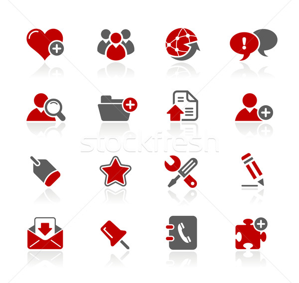 Internet & Blog Icons // Redico Series Stock photo © Palsur