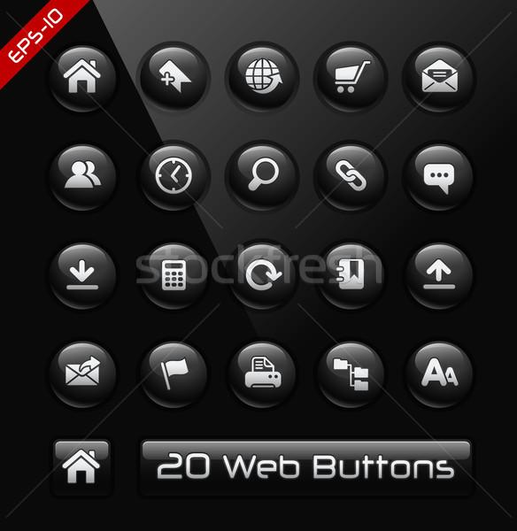 Icons for Web Sites Developers // Black Label Series  Stock photo © Palsur