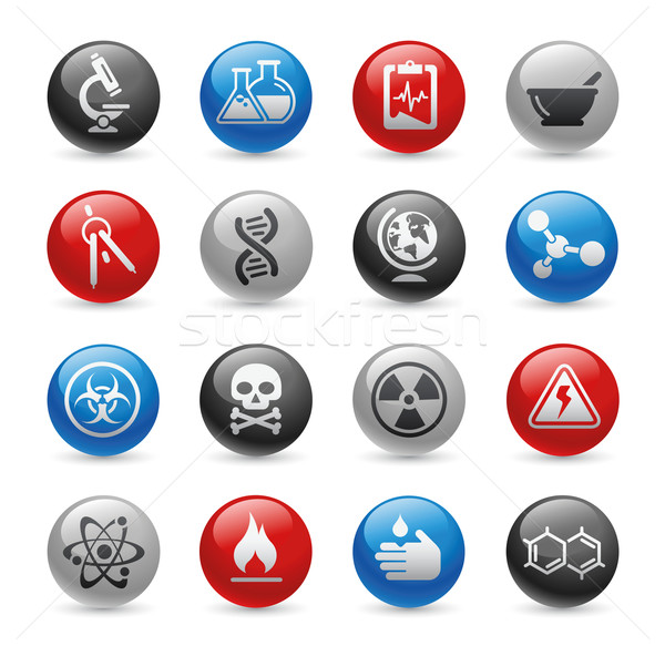 Science Icons  // Gel Pro Series Stock photo © Palsur