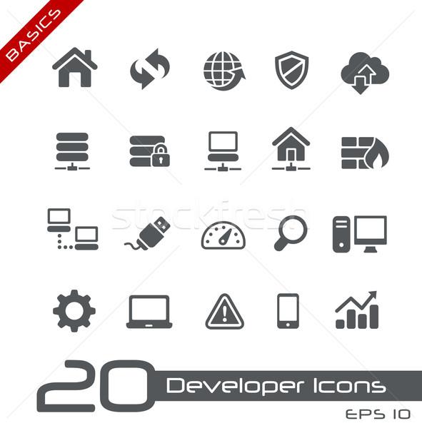 Developer Icons // Basics Stock photo © Palsur