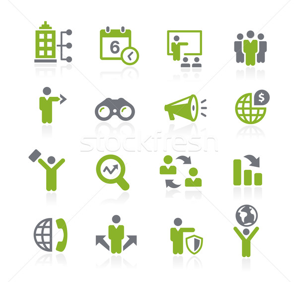 Business Opportunities Icons // Natura Series Stock photo © Palsur