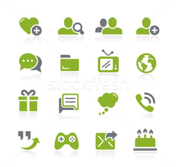 Social Communications Icons // Natura Series Stock photo © Palsur