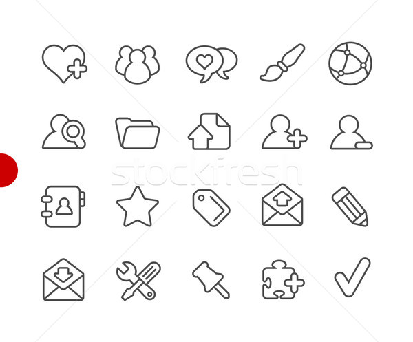 Blog Icons // Red Point Series Stock photo © Palsur
