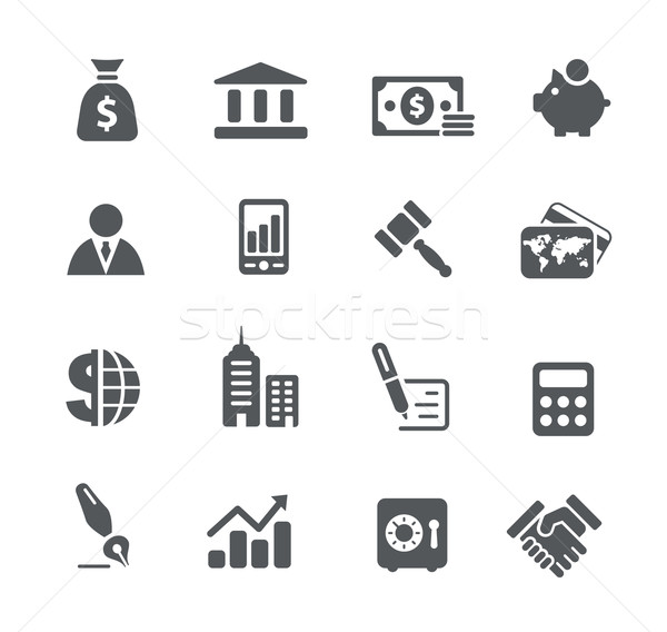 Business and Finance Icons -- Utility Series Stock photo © Palsur