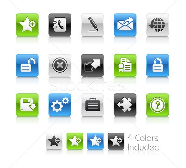 Web 20 propre eps fichier couleur Photo stock © Palsur