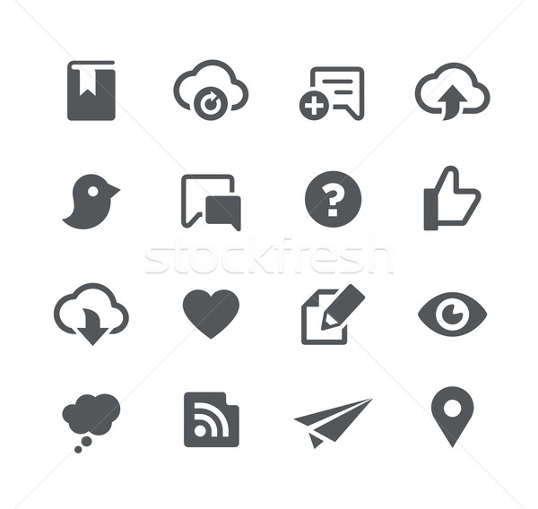 Sociale apps interface vector iconen Stockfoto © Palsur