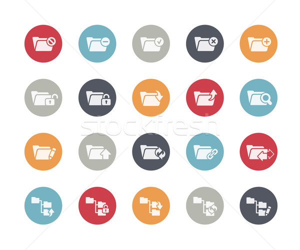 Folder Icons Set 1 of 2 // Classics Series Stock photo © Palsur