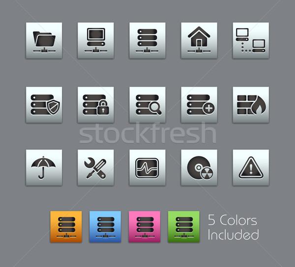 Stock fotó: Hálózat · szerver · hosting · eps · akta · szín