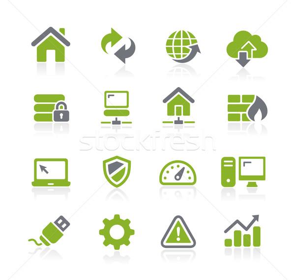 веб разработчик иконки вектора мобильных печати Сток-фото © Palsur