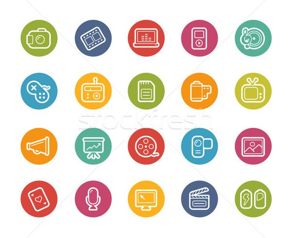 Multimedia Icons // Printemps Series Stock photo © Palsur