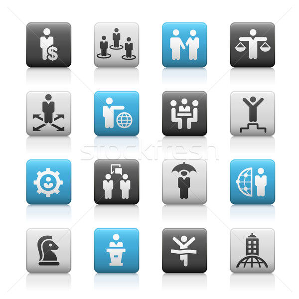 Business Success Icons -- Matte Series Stock photo © Palsur