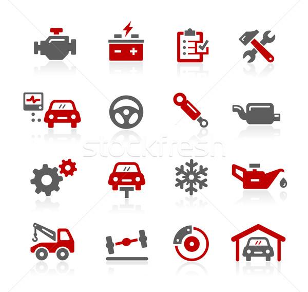 Foto stock: Carro · serviço · ícones · vetor · digital · imprimir