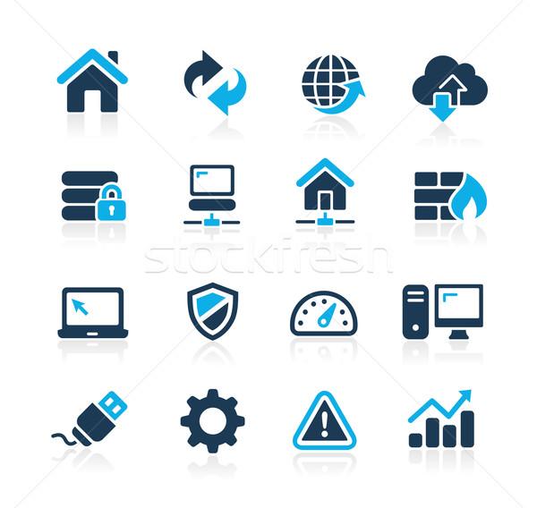 Web Developer Icons // Azure Series Stock photo © Palsur