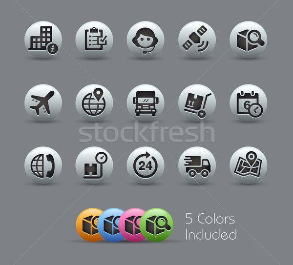 Shipping and Tracking Icons -- Pearly Series Stock photo © Palsur
