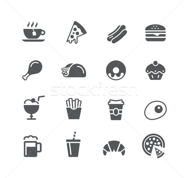 żywności ikona użyteczność wektora cyfrowe wydruku Zdjęcia stock © Palsur