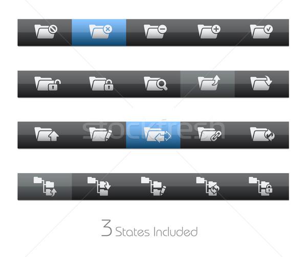 Map eps bestand knoppen verschillend lagen Stockfoto © Palsur