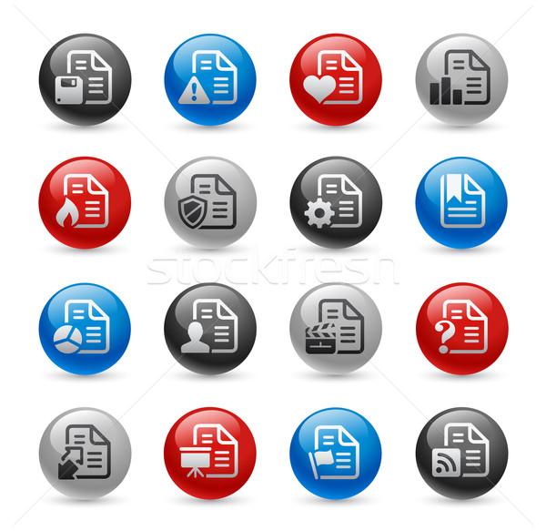 Documents Icons - Set 2 -- Gel Pro  Stock photo © Palsur