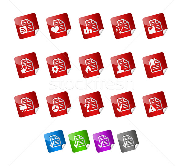 Documents Icons 2 -- Sticker Series Stock photo © Palsur