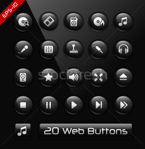 Media Player Icons -- Black Label Series  Stock photo © Palsur