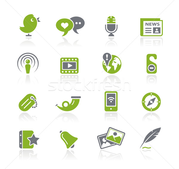 Social Media Web Icons // Natura Series Stock photo © Palsur