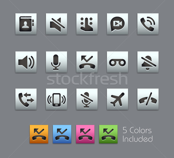 Phone Calls Interface Icons -- Satinbox Series Stock photo © Palsur