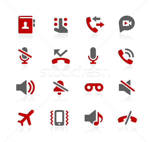 Phone Calls Interface Vector Icons - Redico Series Stock photo © Palsur