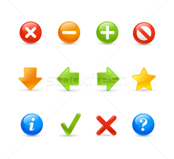 Stock photo: Gel Icon Set - 2 / Navigation