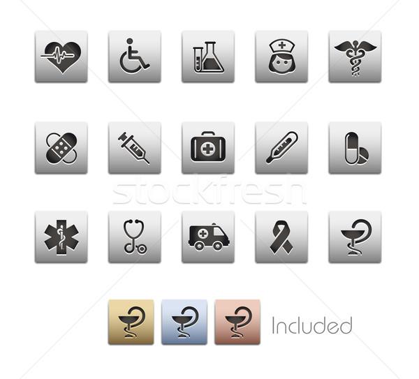 Stock fotó: Gyógyszer · egészségügy · fémes · eps · akta · szín