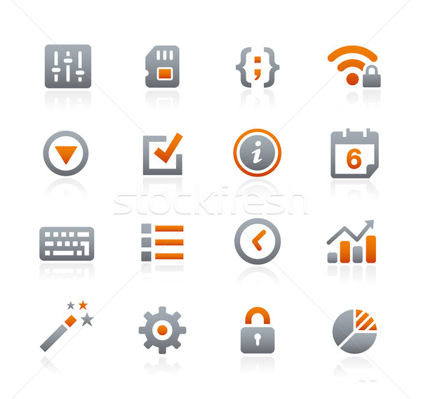 Web and Mobile Icons 4 -- Graphite Series Stock photo © Palsur
