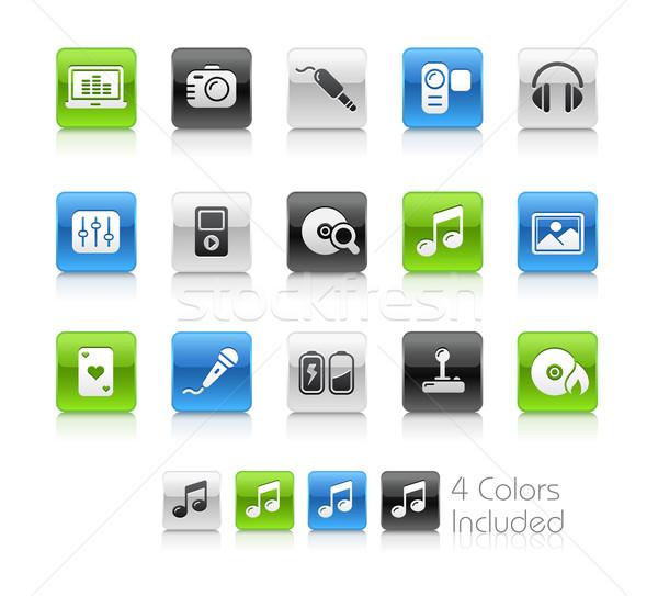 Mediów rozrywki czyste eps pliku kolor Zdjęcia stock © Palsur