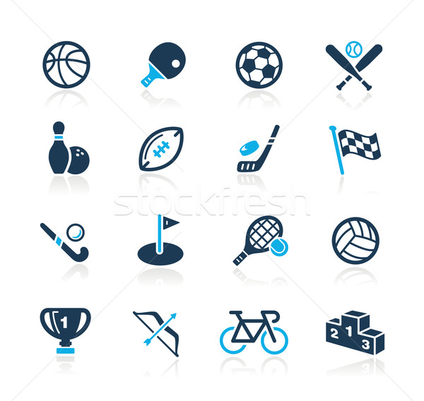 Sports Icons // Azure Series Stock photo © Palsur