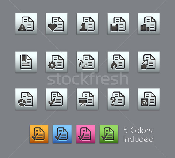 Documents Icons - 2 of 2 -- Satinbox Series Stock photo © Palsur