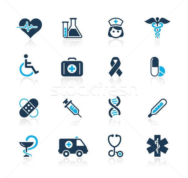 Foto stock: Medicina · cuidar · azul · profissional · ícones · site