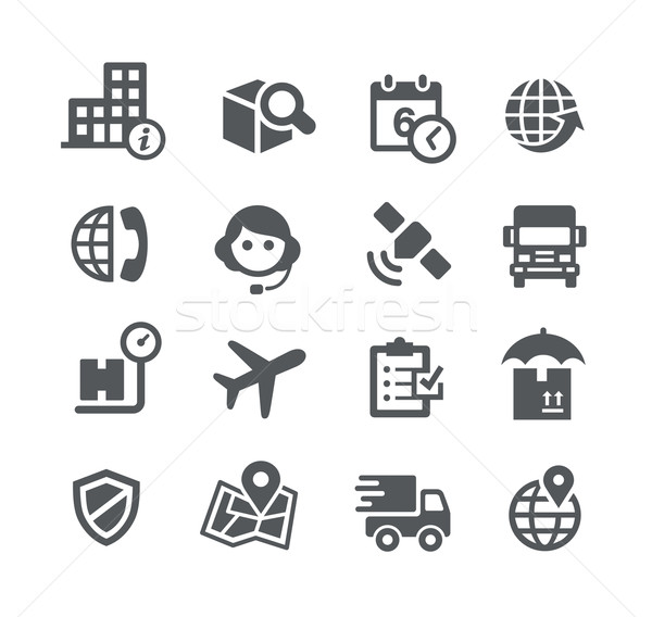 Shipping and Tracking Icons -- Utility Series Stock photo © Palsur